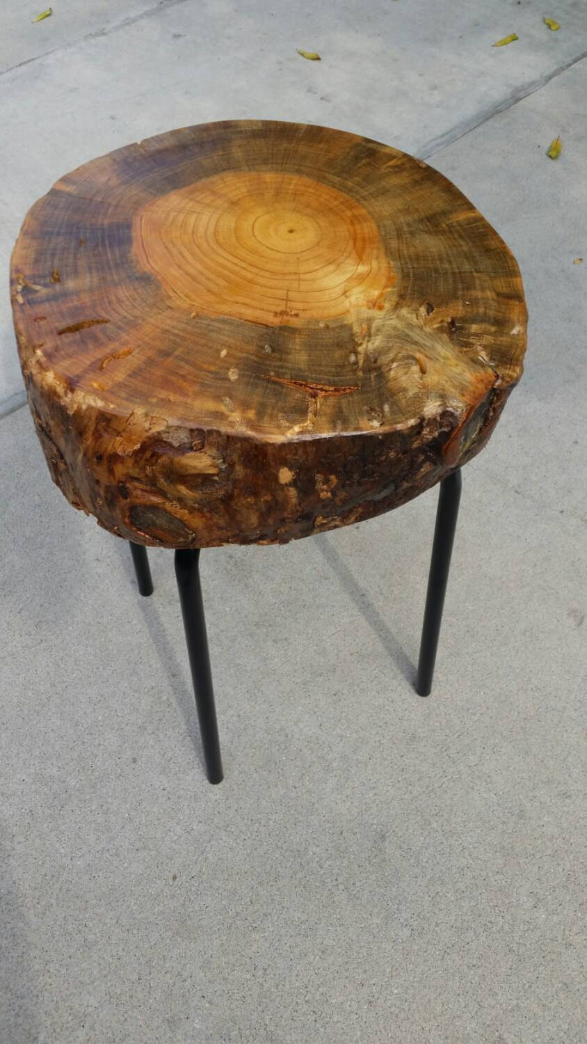 mosaic patio side table the perfect unbelievable tree stump end elegant coffee with diy trunk above solid acacia teton white gloss argos round glass world market couch ethan allen