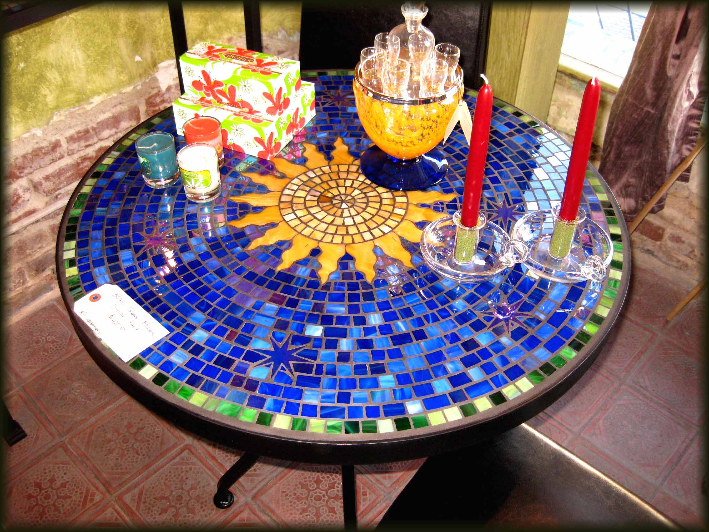 mosaic patio table the new way home decor for tile accent outdoor black and white linens winsome instructions two door cabinet pottery barn marble small corner end outside grills