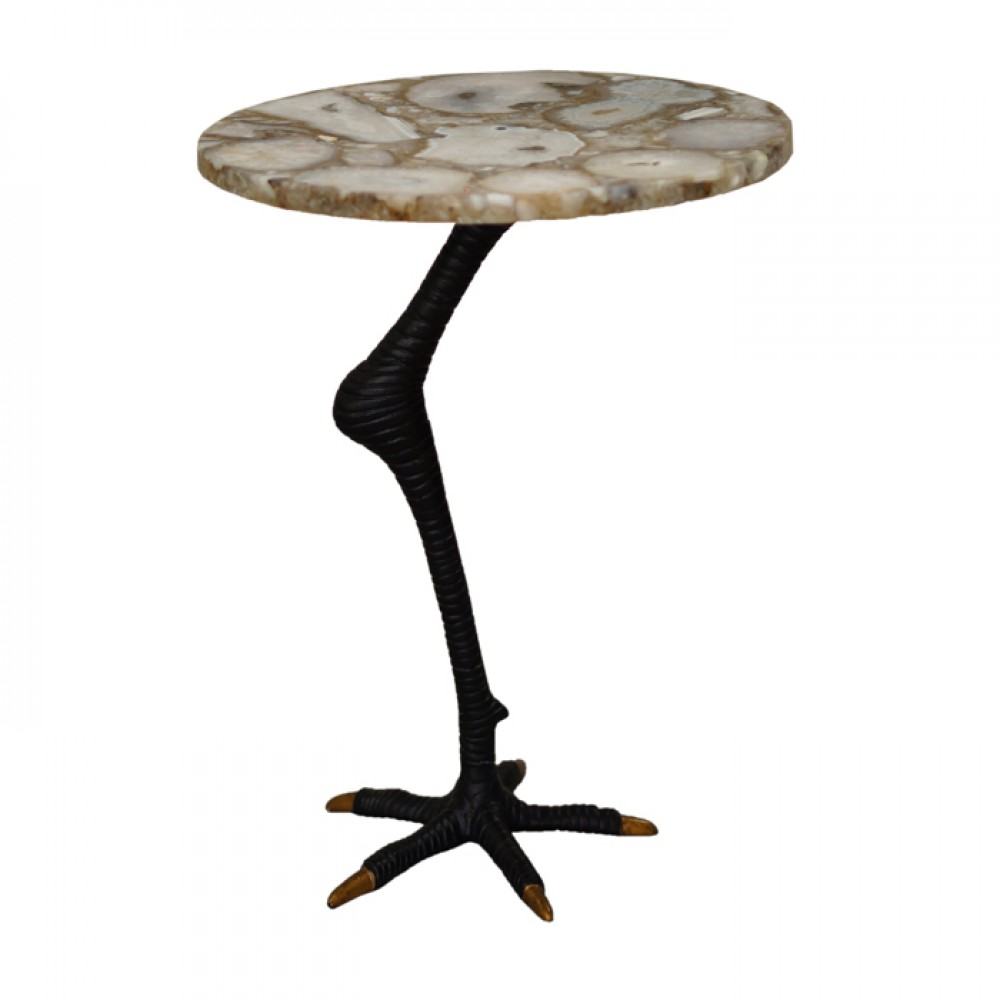 mosaic pattern white agate accent table top with bird claw outdoor legs ostrich leg pub dining set pottery barn marble wicker coffee high console target kitchen tall narrow
