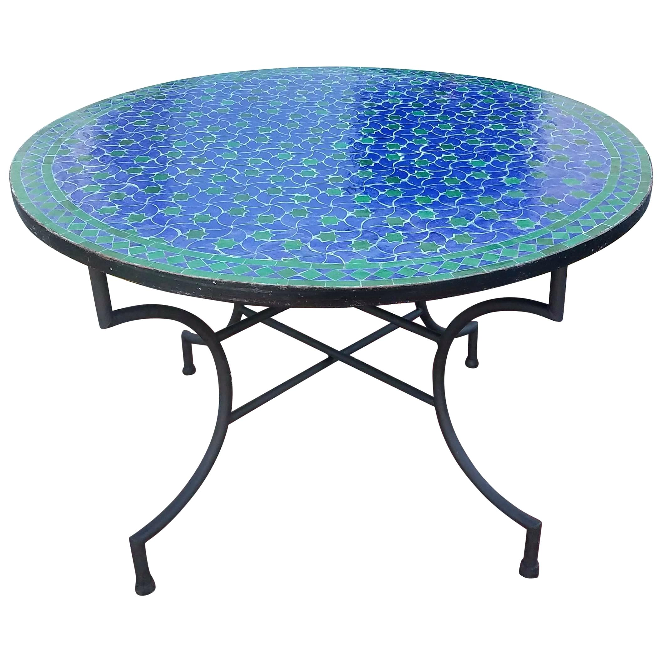 mosaic patterns for table tops what are the steps follow purchase round blue green tile top accent indoor white corner end leaf wood coffee wall hanging wine rack glass tables