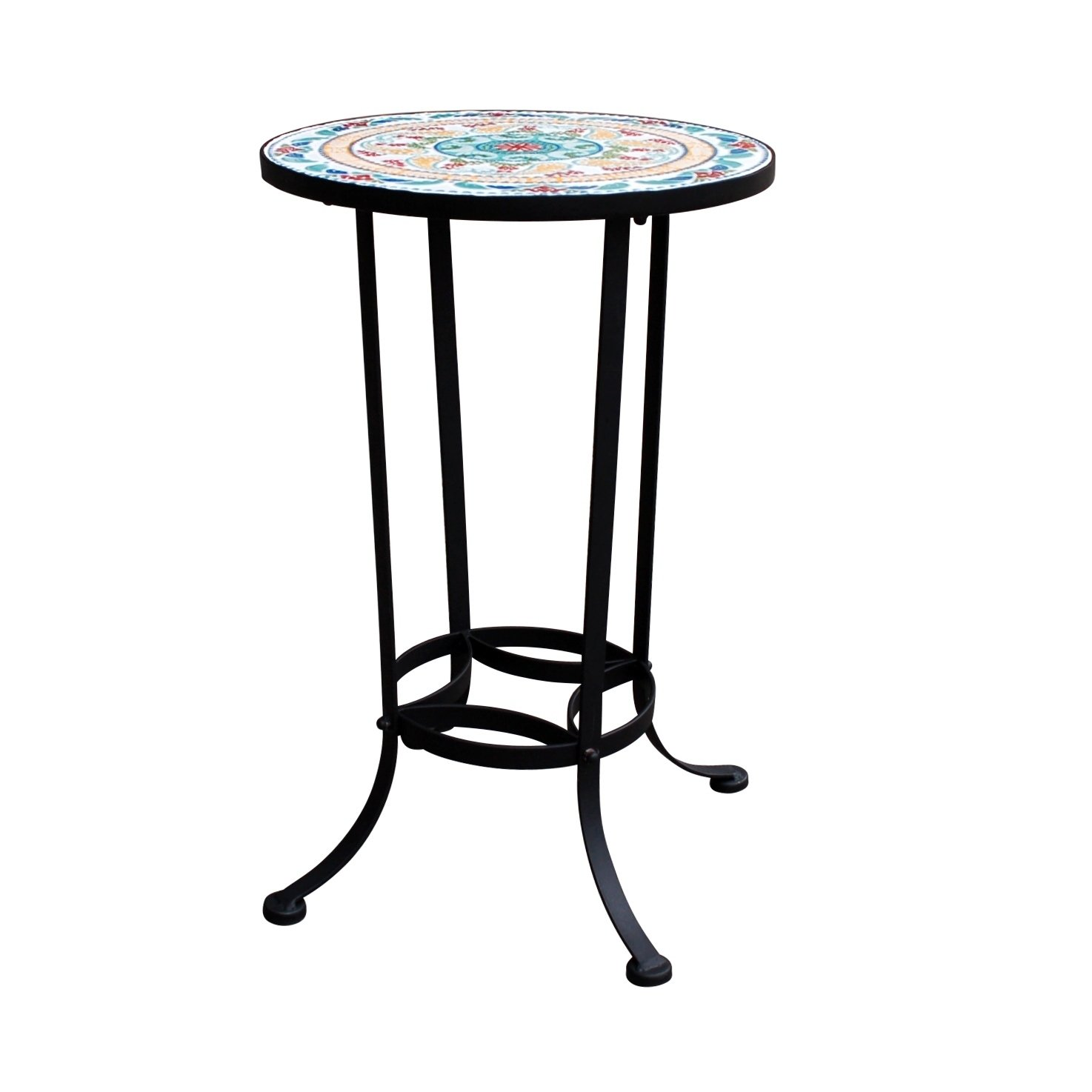 mosaic side table free shipping today outdoor small kitchen and chairs set kirklands bar stools thomasville end tables target recliners accent for bedroom meyda tiffany lamp bases