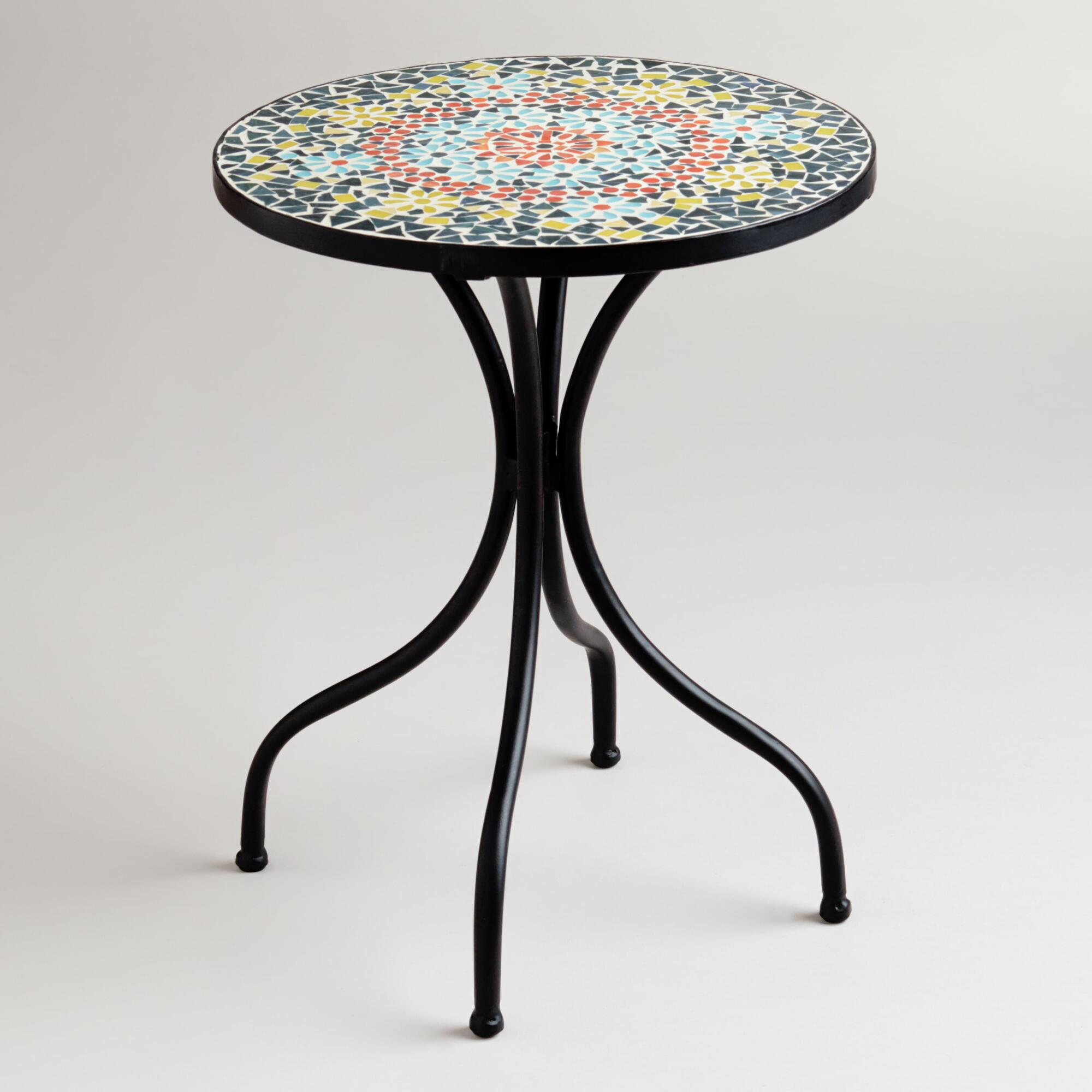 mosaic table for attractive centre attention the new way home decor accent outdoor stone bar stools bunnings drum throne parts colourful coffee height patio furniture narrow sofas