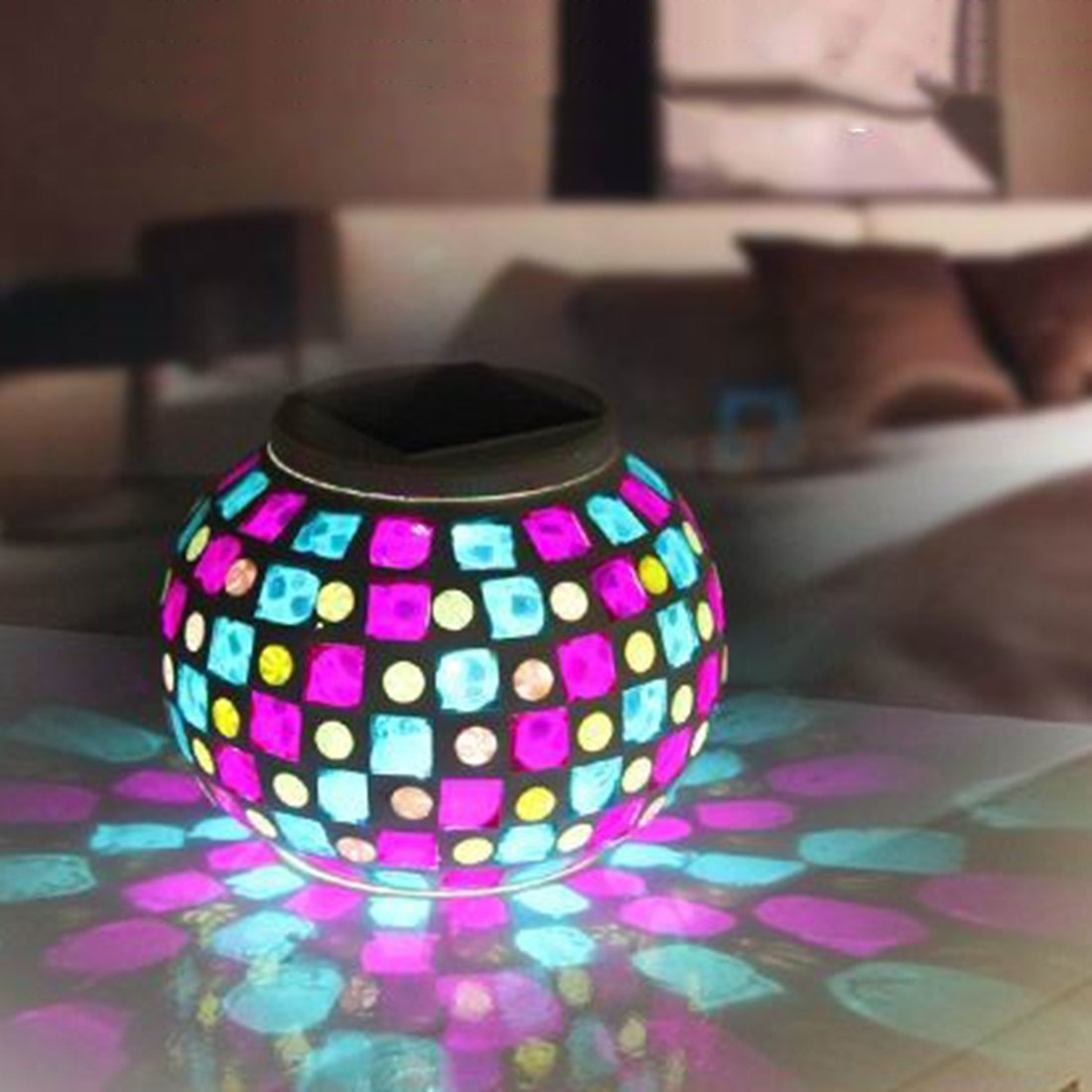mosaic table garden find line bella green outdoor accent get quotations solar lamp tmore glass ball lights led color changing unique coffee tables and end small half beach floor