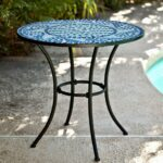 mosaic tile outdoor accent table side zaltana awesome home mid century modern console pier one imports patio furniture battery powered lamps stump types long ikea bedside drawers 150x150