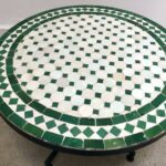 mosaic tile outdoor side table accent low iron base green and white for home theater ideas library country magazine subscription small shelves target round nest coffee tables zinc 150x150