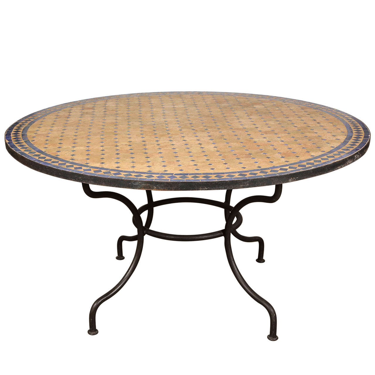 mosaic tile patio table and glass tables outdoor stone accent home goods chairs steel hairpin legs drum throne parts washer dryer reclaimed wood coffee wrought iron bistro set
