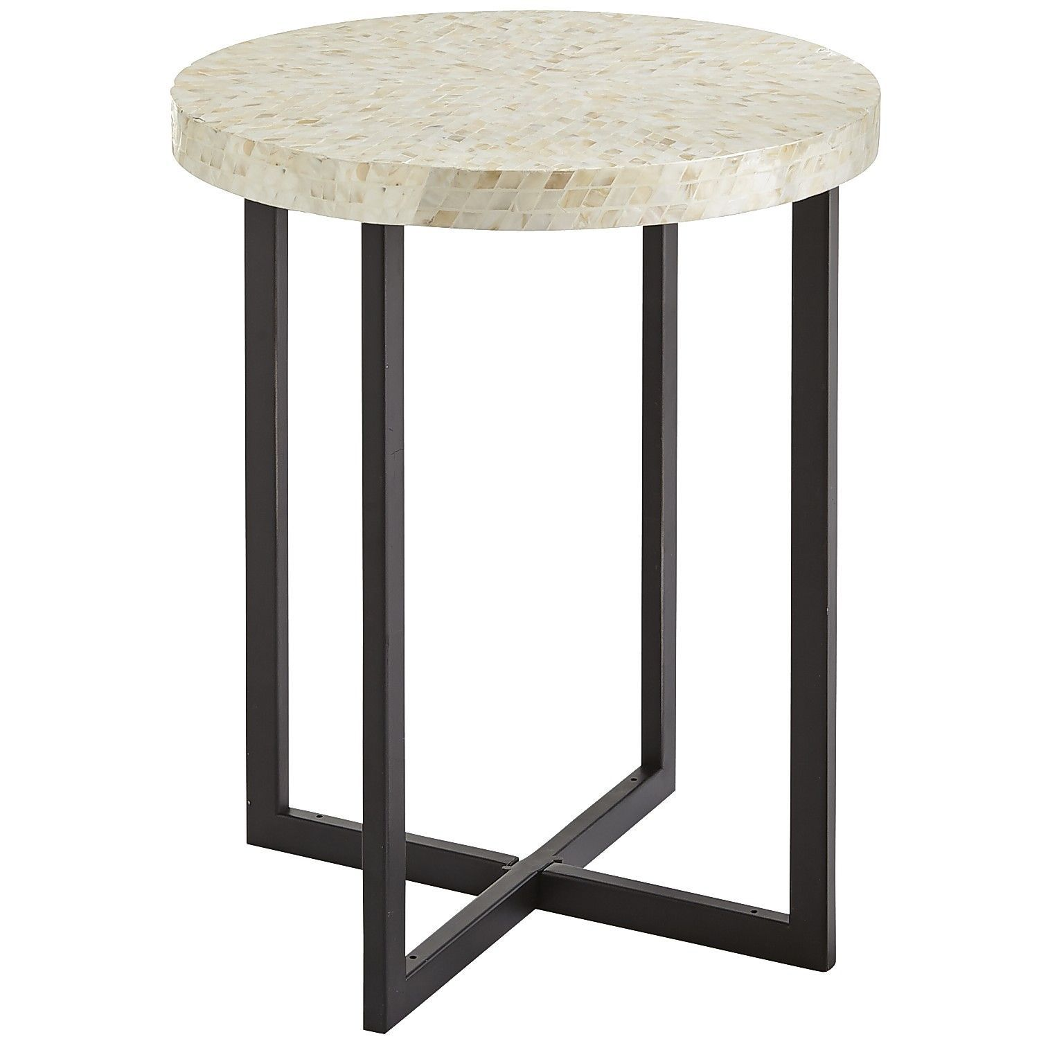 mother pearl end table night stand living rooms kenzie accent brown round kirklands wall decor concrete coffee and tables foyer ideas half moon console mirrors square nesting