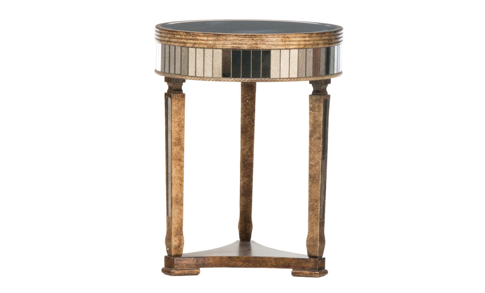 mottled mirror accent table small space ideas mirrored high end tables beautiful piece with ornate detailing that will give your living room exquisite look cabinet furniture round