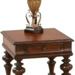 mountain manor heritage cherry rectangular end table from hadley accent with drawer blue oriental lamp chrome glass tables tablecloth round drawers cordless touch lamps crochet 150x150
