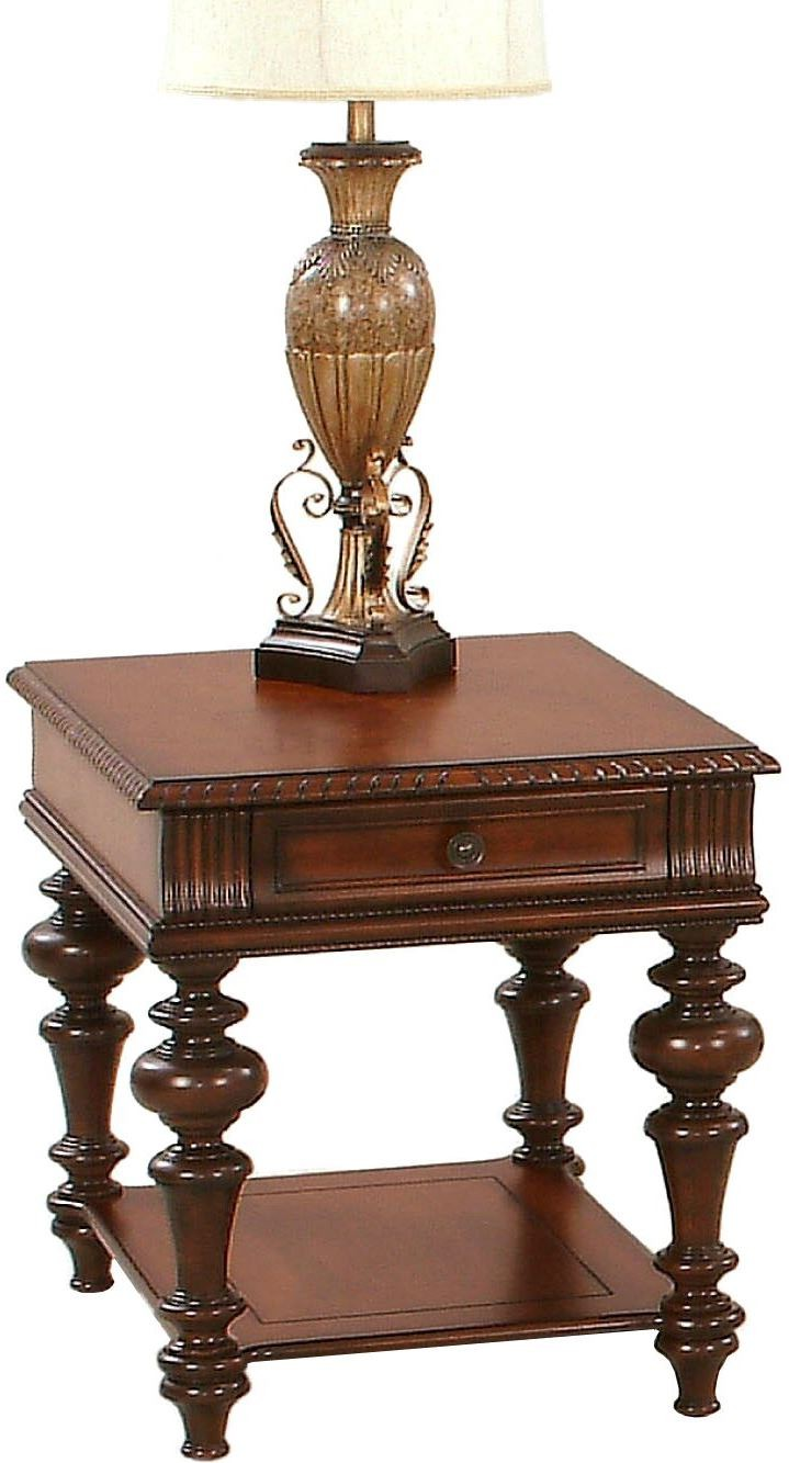 mountain manor heritage cherry rectangular end table from hadley accent with drawer blue oriental lamp chrome glass tables tablecloth round drawers cordless touch lamps crochet
