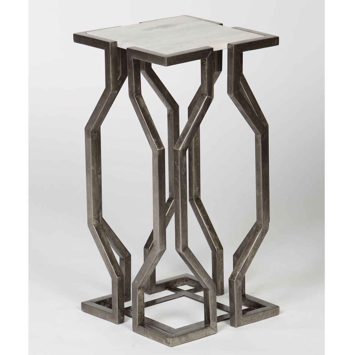 mountain modern decor black forest open geometric accent table antique pewter stratford wicker folding bronze small silver console ethan allen dining ikea center entry retro style