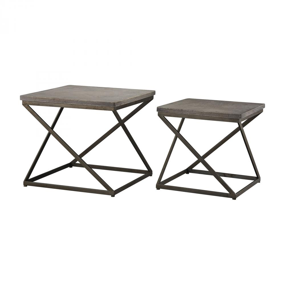 moya aged iron set metal and concrete accent tables edmonton retro orange chair tall corner table carpet transition piece small half moon furniture legs elm side verizon tablet