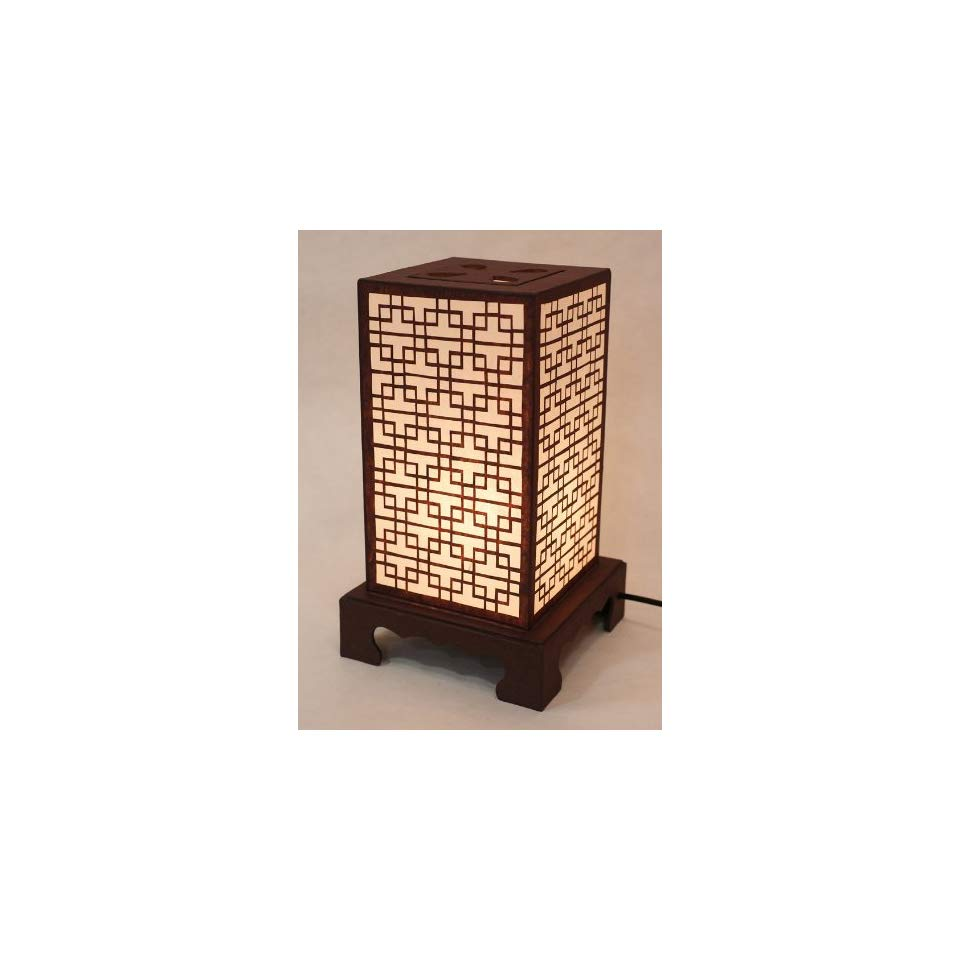 mulberry rice paper shade lattice pattern korean window design oriental accent table lamps square handmade lantern brown asian decorative brass coffee base ashley loveseat round
