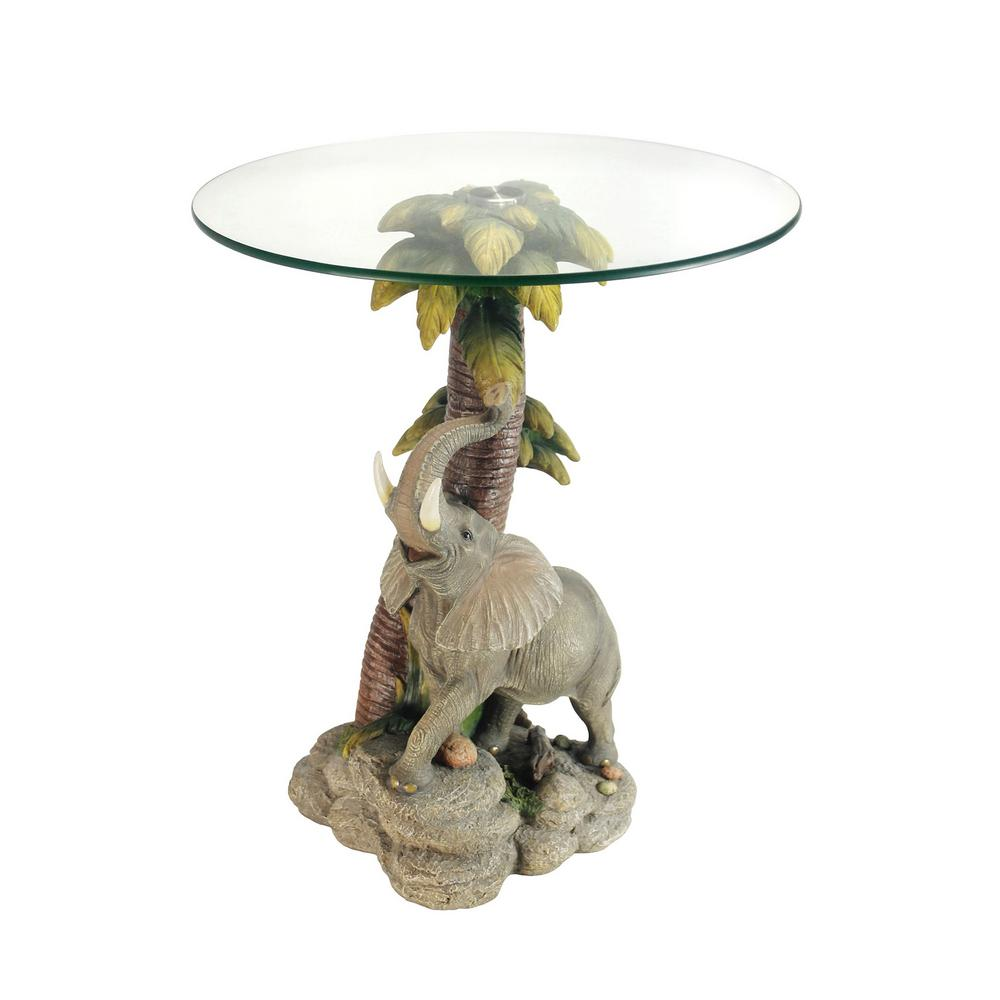 multi colored glass top elephant end table the home tables accent rattan furniture walnut distressed mosaic side studded dining chairs small kidney shaped round coffee decor ozark
