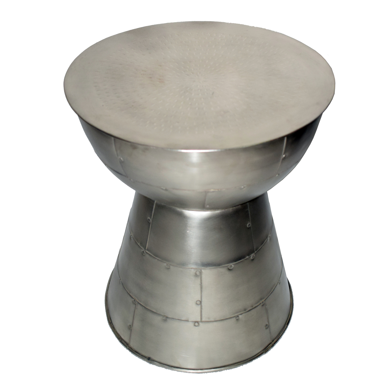 mushroom shaped silver accent table cairo silvered metal restoration hardware leather chair nautical pendant lights for kitchen island stand industrial side vintage wooden mats