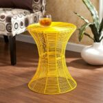 mykonos indoor outdoor accent table yellow newegg palm rattan small black glass chairs for balcony porch furniture wood one drawer threshold lucite and gold coffee metal patio 150x150