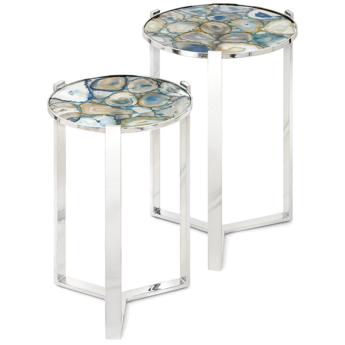 nakasa agate blue stone piece nesting tables jen table glass accent parsons end designer and chairs gold wood coffee tall corner sofa square clear metal bedroom side silver