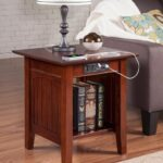 nantucket vintage style end table with usb charging port walnut accent finish atlantic living room cabinets and chests mid century chairs affordable bedside tables tro themed 150x150