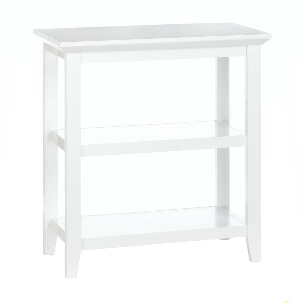 narrow accent table white slim modern decor patio storage for bathroom tables decorative display mica lamps pair nightstands center design concrete outdoor bunnings furniture