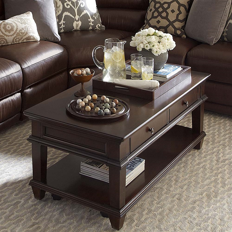 narrow coffee table with storage small accent glass and side tables dark wood drawers shelves west elm sofa farmhouse chairs coastal inspired chandeliers tripod white oak bedside