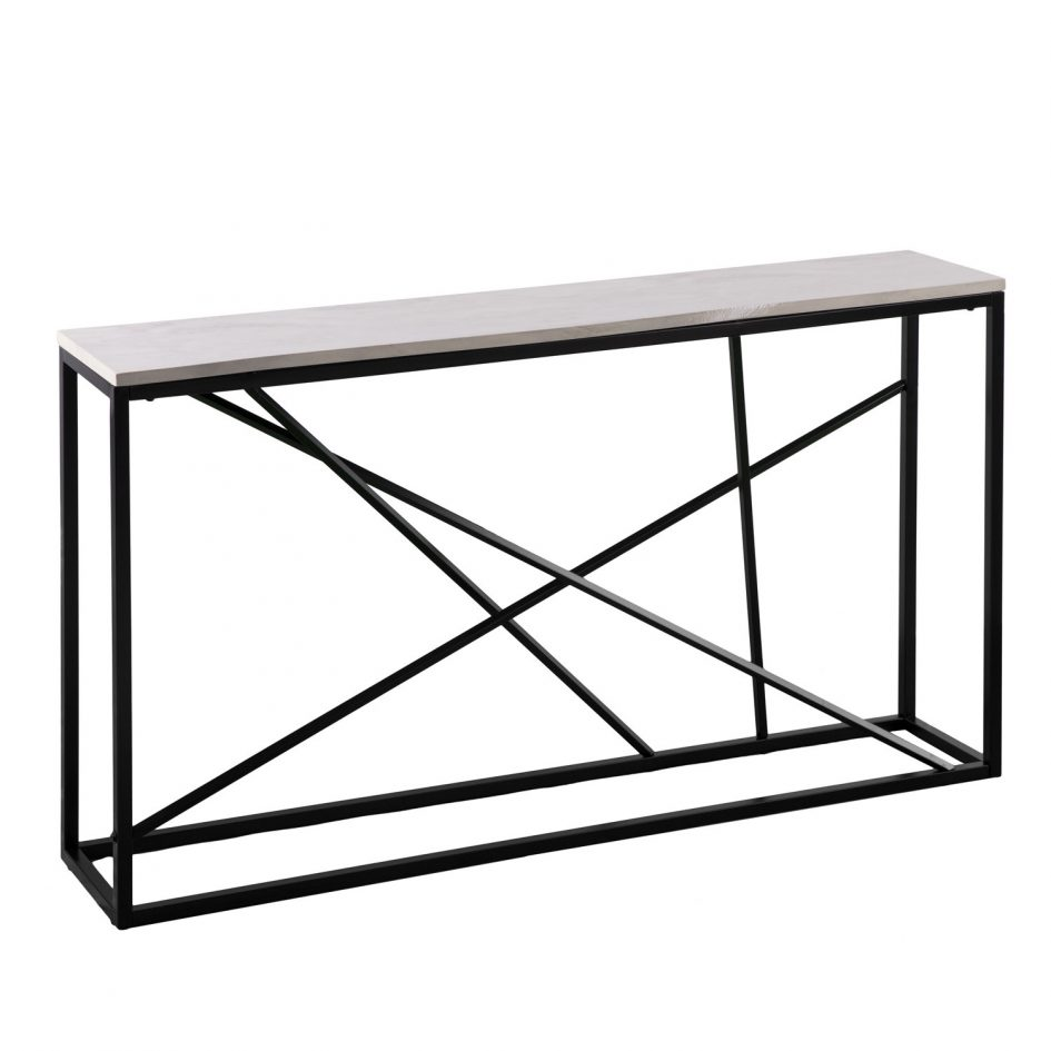 narrow console desk entryway accent table inch tall sofa cream tables activity liquor storage cabinet low marble coffee black top iron wall clock west elm mid century rug person
