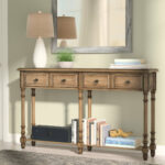 narrow rustic console table preusser long thin accent quickview patio seating sets hampton bay chaise lounge cushions sofa bench ikea rocking chair farm trestle dining west elm 150x150