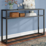 narrow rustic console table swanage long thin accent black and white modern coffee slim wine rack round with screw legs pier one imports coupons sofa bench ikea fabric tablecloths 150x150