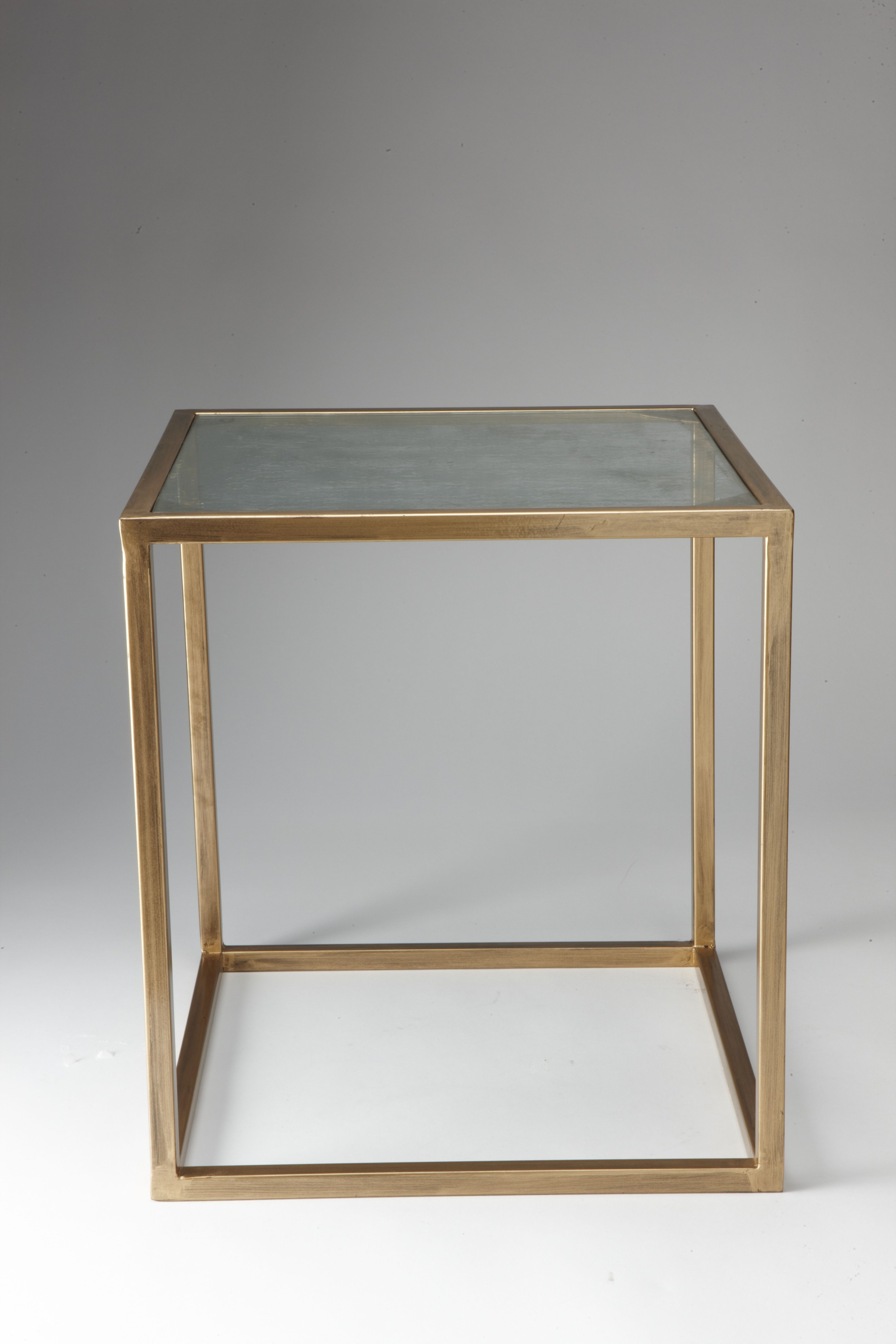 nate berkus accent table gold and antiqued glass target threshold vintage white finish rectangle coffee leick laurent ikea hallway storage small side wheels patio tiles round