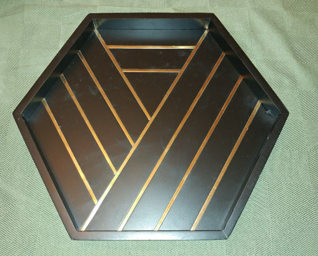 nate berkus black gold decorative table tray cast metal accent norton secured powered verisign antique furniture west elm free shipping coupon code console with drawers round