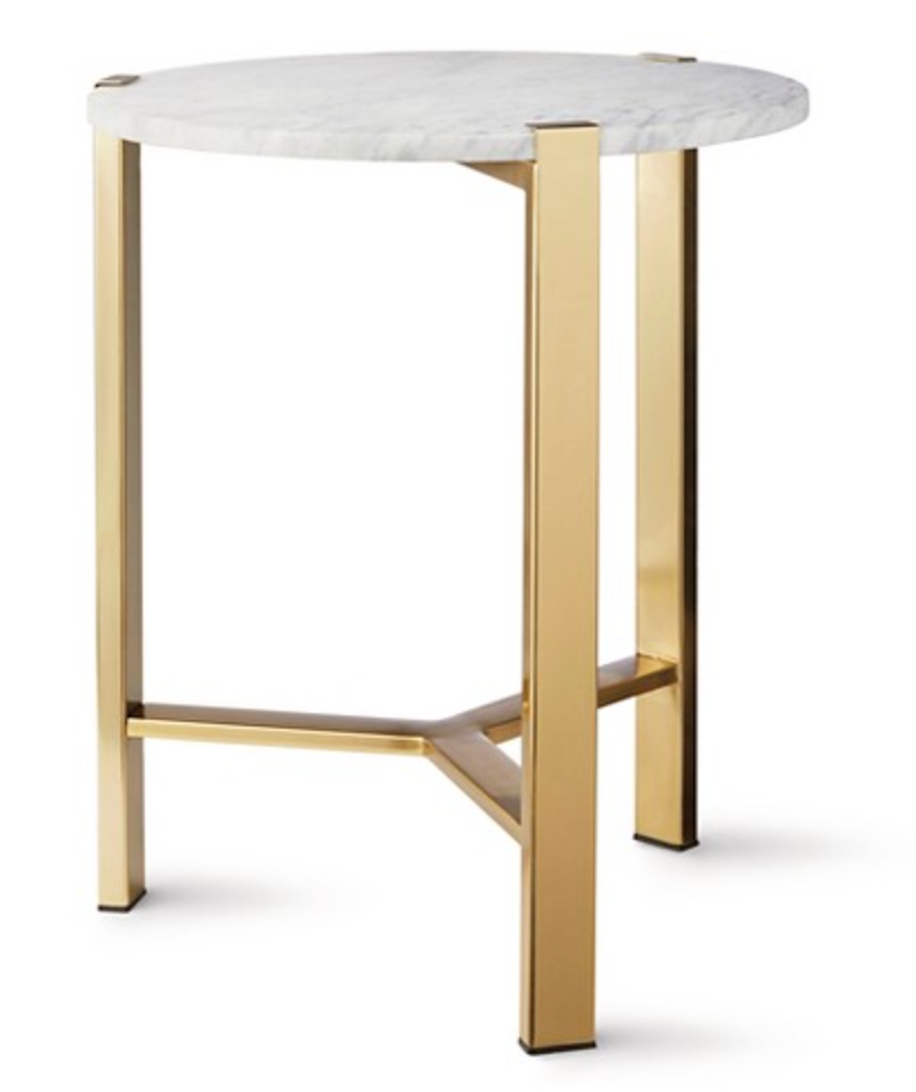 nate berkus end table tops cast metal accent target round gold with marble top piece coffee set high legs homemade outdoor small battery operated lamps wine rack tower antique