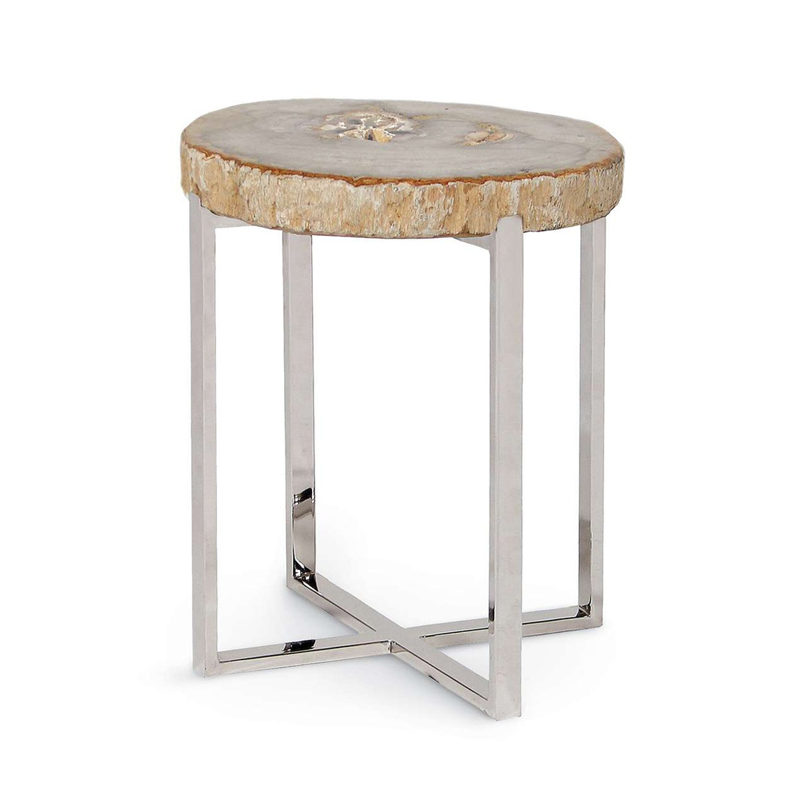 natural artistry accent table with stainless steel legs small very drum hardware chrome bedside lamps yellow home accents triangle oval entry bar tables for unique decor white mid