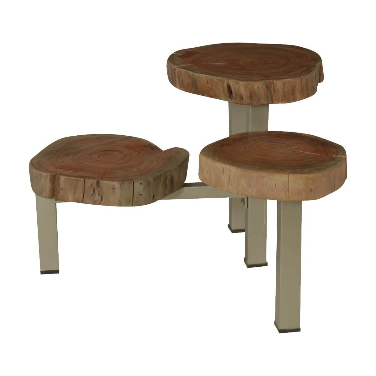 natural edge acacia wood iron stump top accent table mirrored end red lamp outside bar furniture small acrylic console pine trestle cream colored tables magnussen bedroom pier