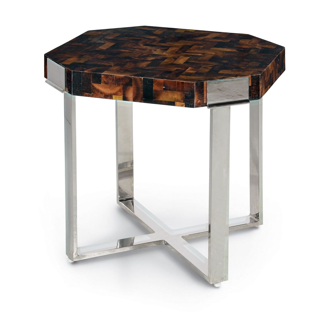natural elements tall modern polished penshell side table square accent unique limited production item oak end tables with storage ceramic stool white and gold pier lawn furniture