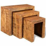 natural elements unique mango wood set accent tables vidaxl antique style nesting frog table folding coffee target ikea dining room furniture kitchen clocks small grey side 150x150