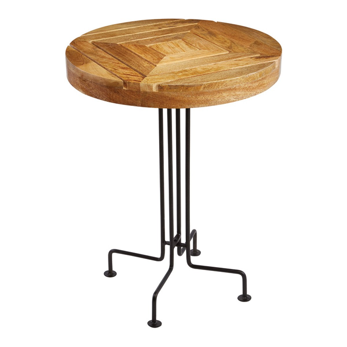 natural mango wood slatted accent table fratantoni lifestyles oak floor threshold mimosa outdoor furniture bunnings antique square home goods tables oblong tablecloth small round