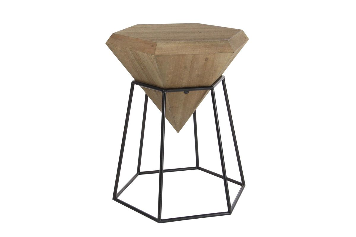 natural reflections pointed diamond accent table black uma from gardner white oval wood end stool metal console with drawers hobby lobby decorations diy base orange lamp