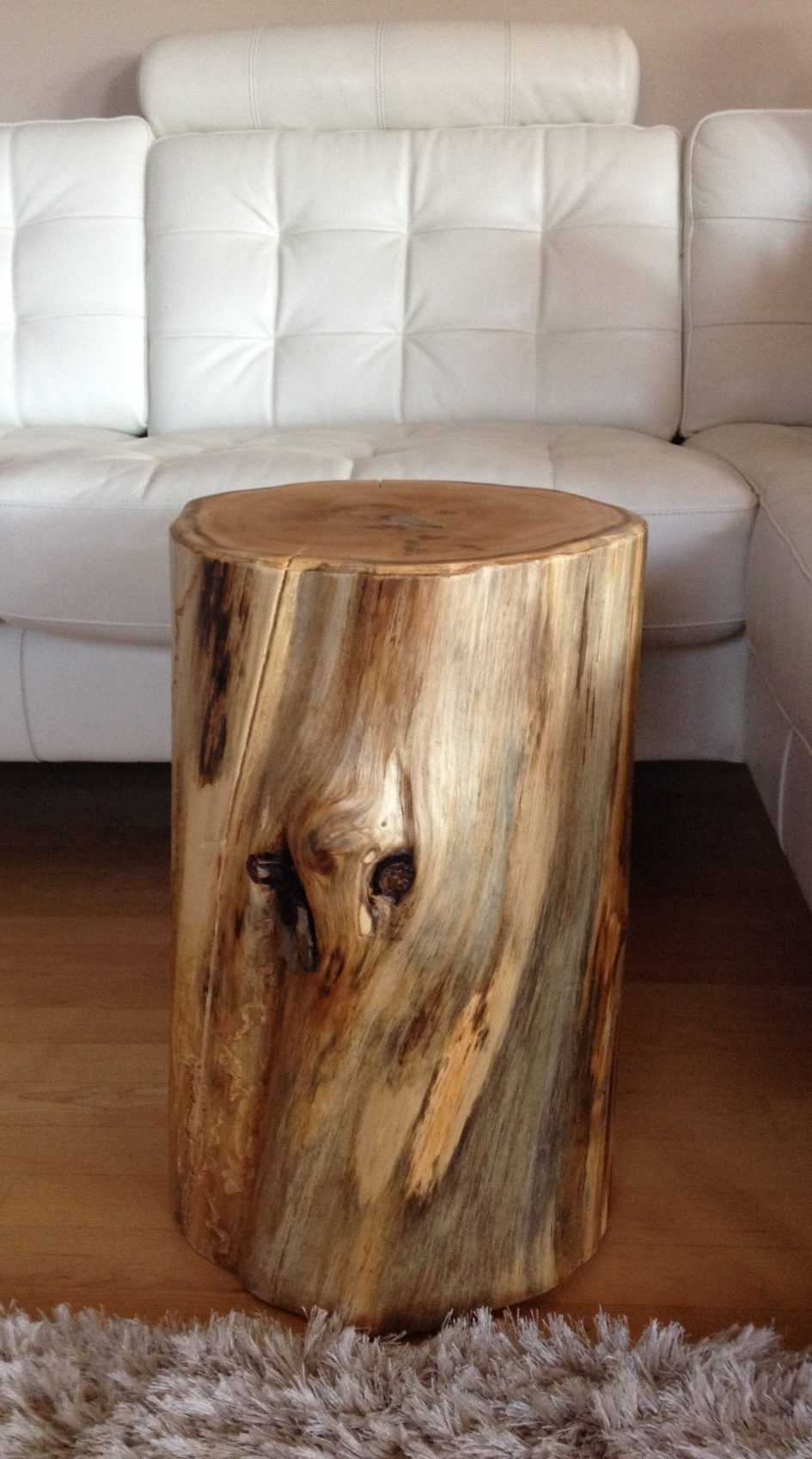 natural tree stump coffee table parsons root cedar base wood log end with drawers silver accent large size tables hallway telephone beautiful bedroom sets circle small corner side