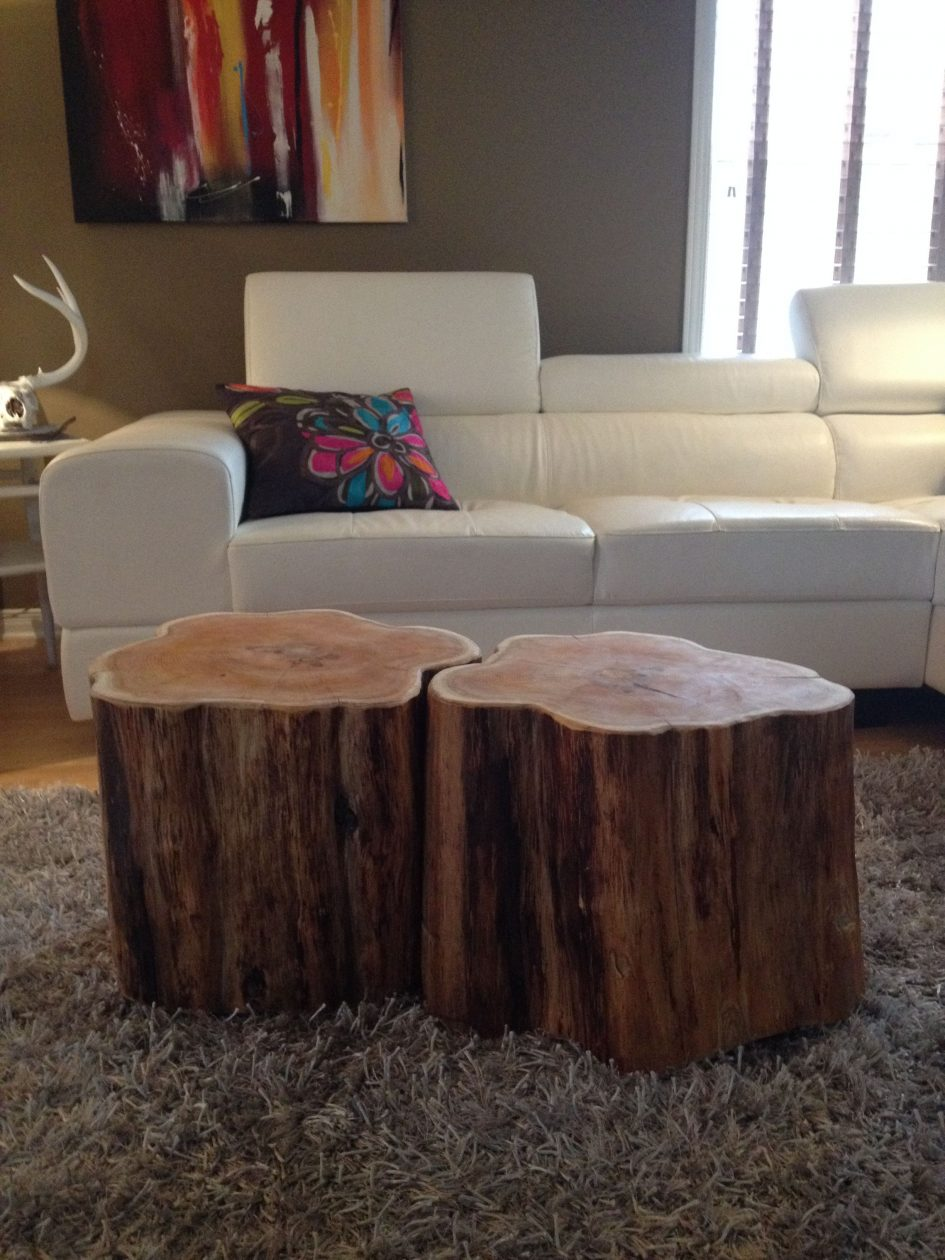 natural tree stump coffee table parsons root side base for wood slice top trunk accent large size tables patio dining clearance bar height and stools rectangular furniture covers