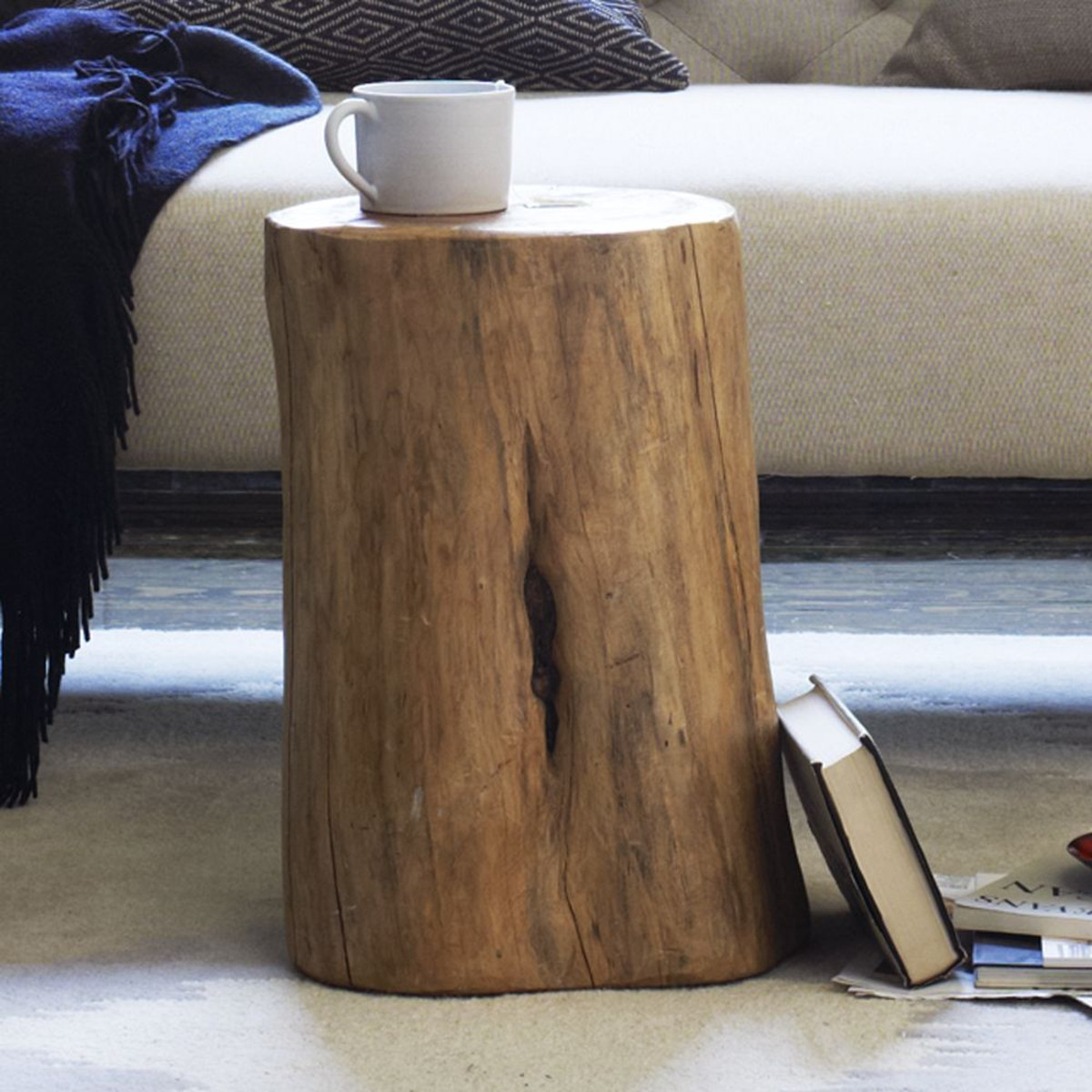 natural tree stump side table west elm media wood accent counter height dining chairs oriental style lamps mirrored bedside next clear ceiling lamp shades round sofa unique