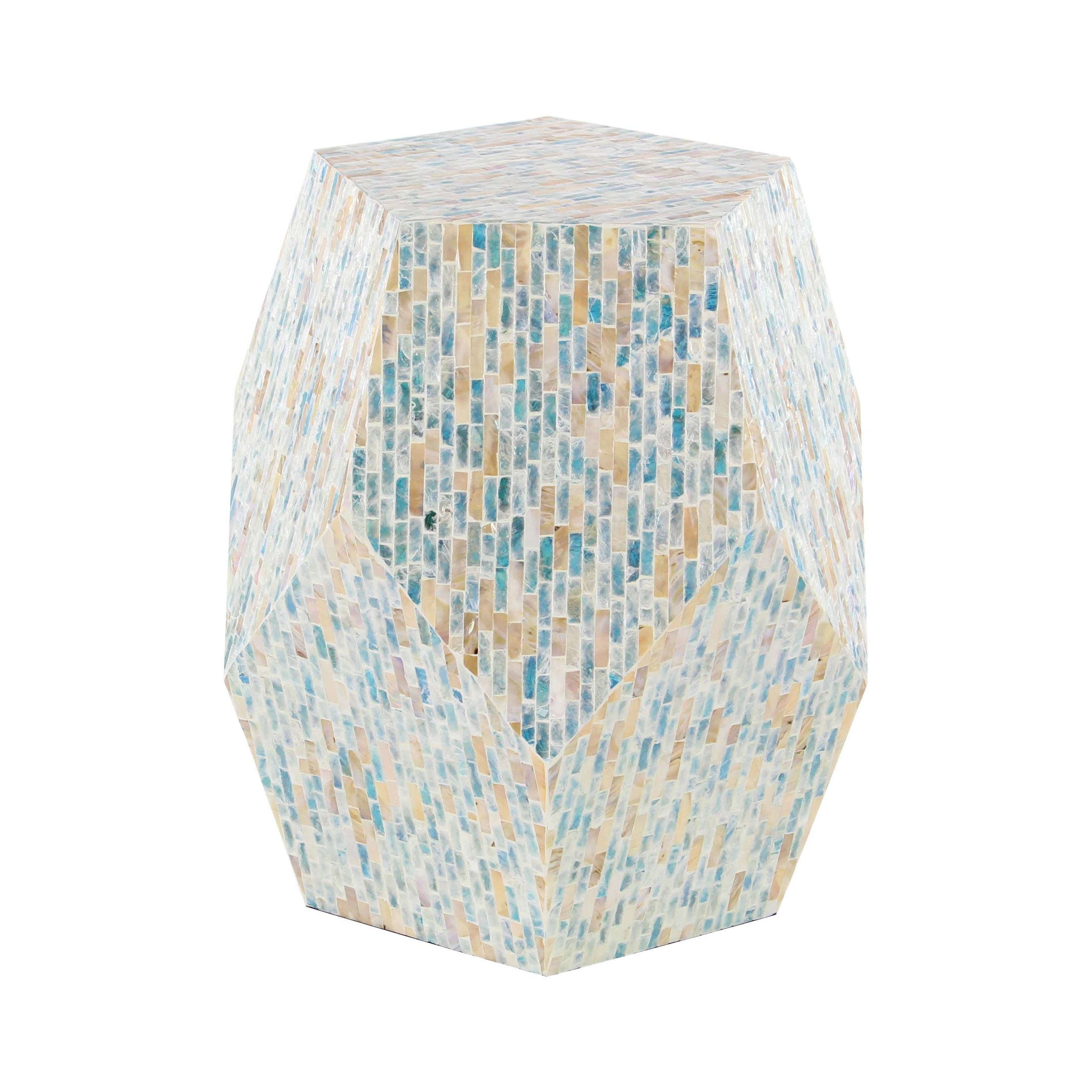 natural wood and shell faceted accent table free safavieh janika off white shipping today cherry coffee end tables rustic reclaimed knotty pine dining clear acrylic ikea small