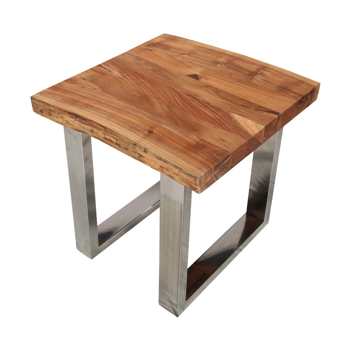 natural wood end table top edge acacia steel square accent dark tables with storage kitchen placemats oak chairside hairpin side bunnings umbrella faux marble dining rectangular