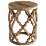 natural wood quatrefoil accent table belle escape sirah side tables coastal modern dining room dark marble coffee small desk with hutch custom hybrid red chinese lamps bath beyond 150x150
