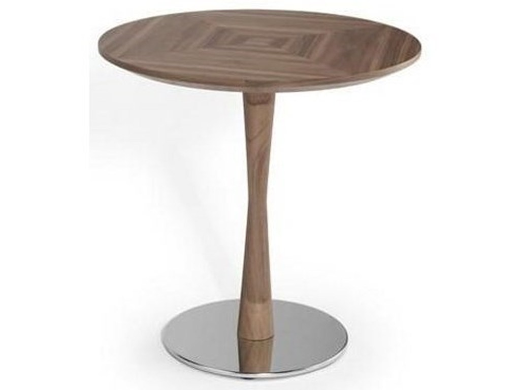 natuzzi editions noci round accent table with chrome base sadler products color ornamental lamps folding sides wood cast aluminium garden furniture retro lamp outdoor nic tables
