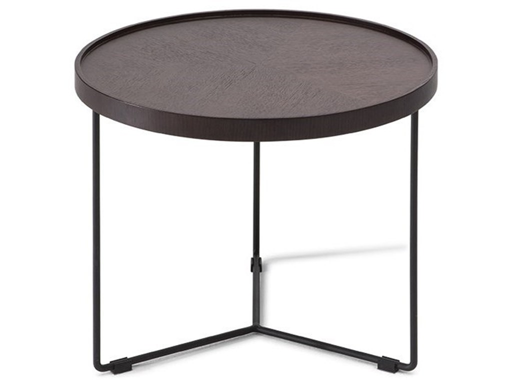 natuzzi editions novello round accent table becker products color black novelloround counter high dining room sets antique brass folding tray coffee white circle end unfinished