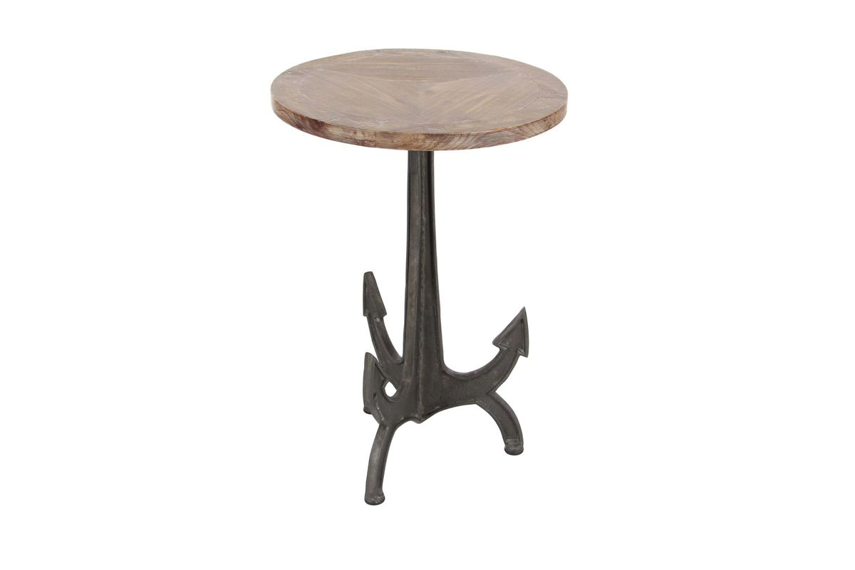 nautical anchor accent table gardner white from furniture round wicker lamps plus tables dark cherry wood end espresso with drawer side dining room light fixture small silver