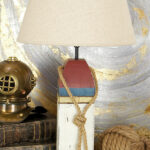 nautical coastal end tables waples wooden buoy table lamp accent lamps bathroom floor storage cabinet furniture patio restoration hardware sectional antique white square coffee 150x150