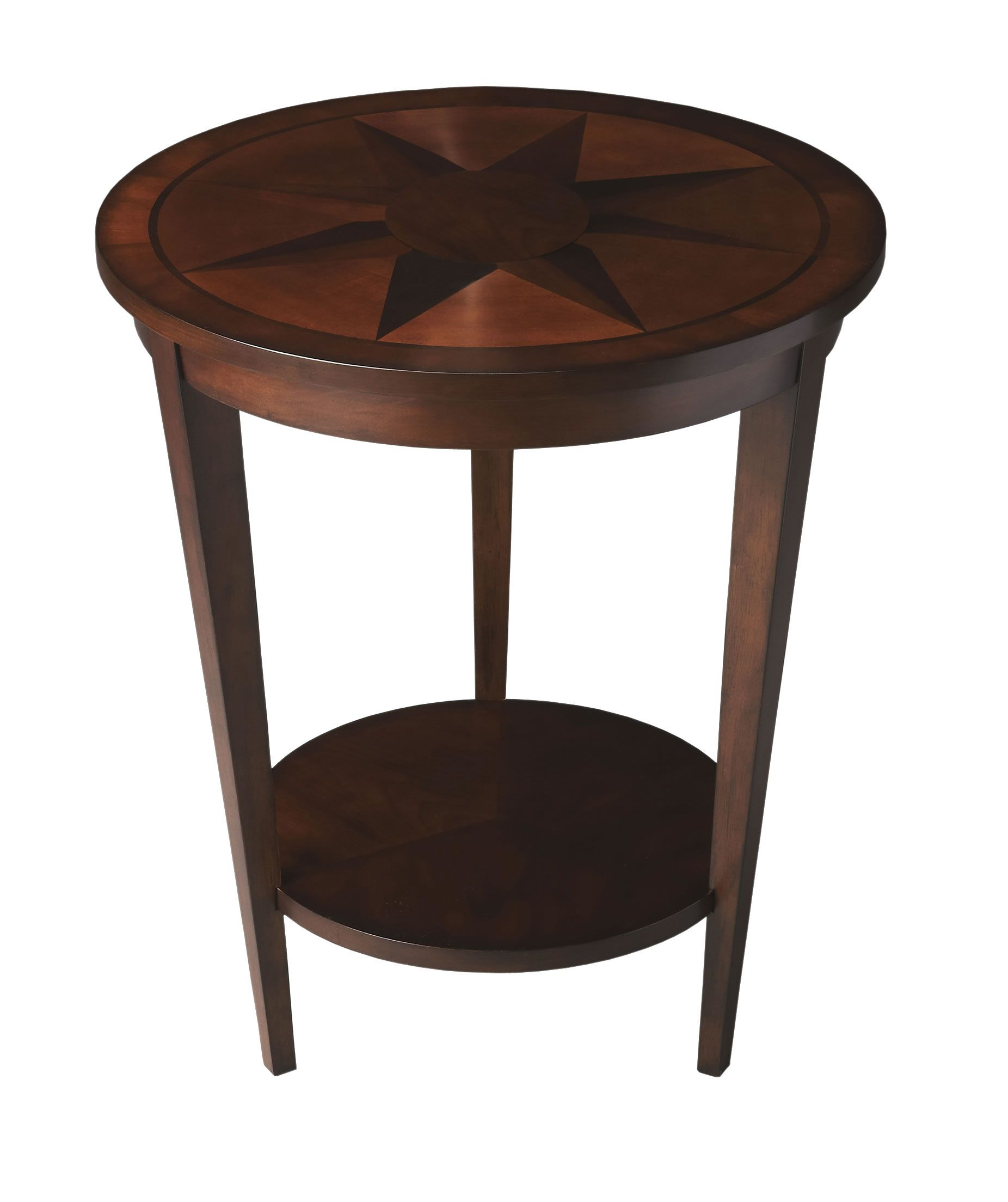 nautical compass side table espresso this dazzling transitional round accent features engaging starburst inlay and reverse tapered legs conjoined narrow couch outdoor patio lights