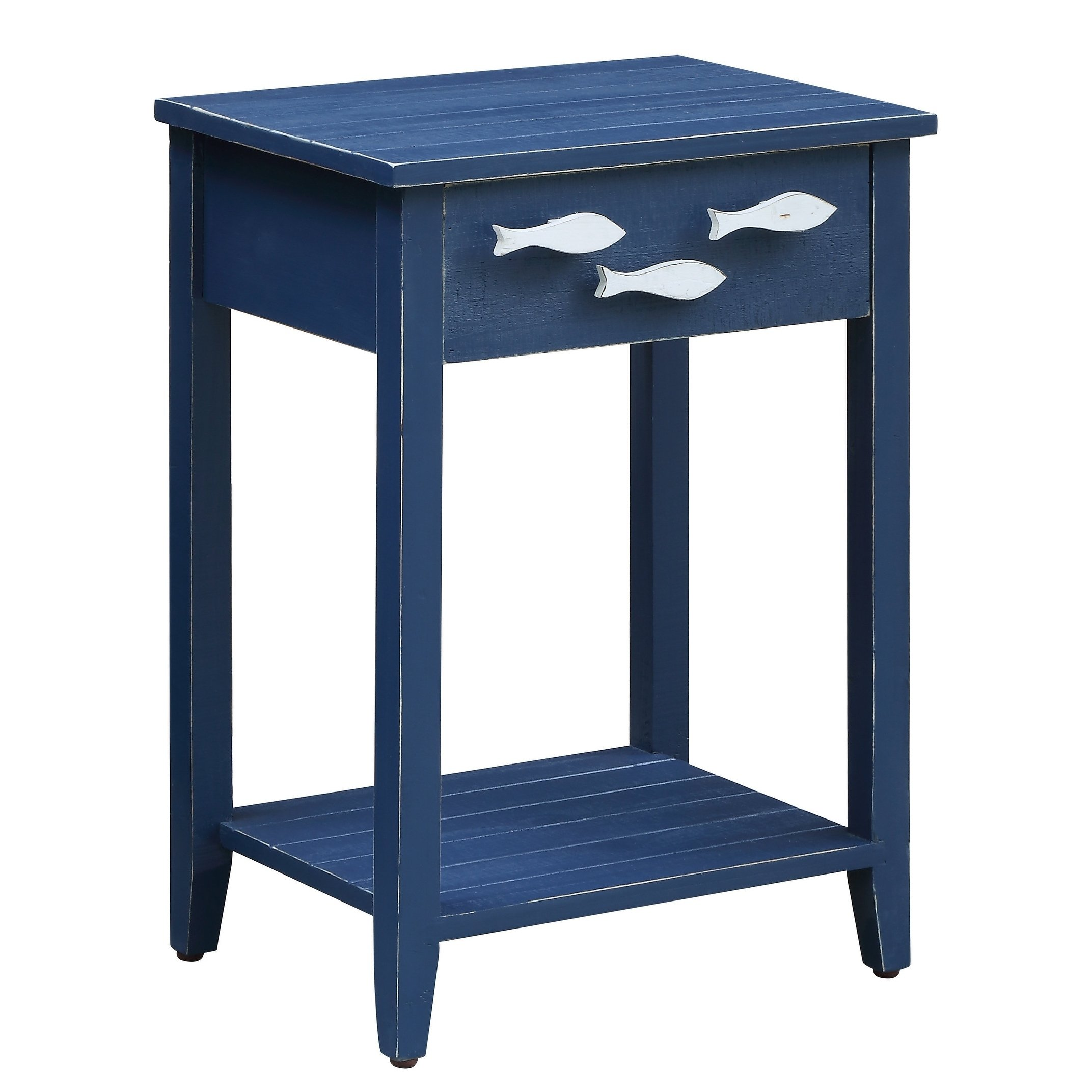 nautical navy drawer accent table with fish hardware free shipping today white round pedestal side telephone ikea smoked glass coffee dog bath tub island chairs small silver solid