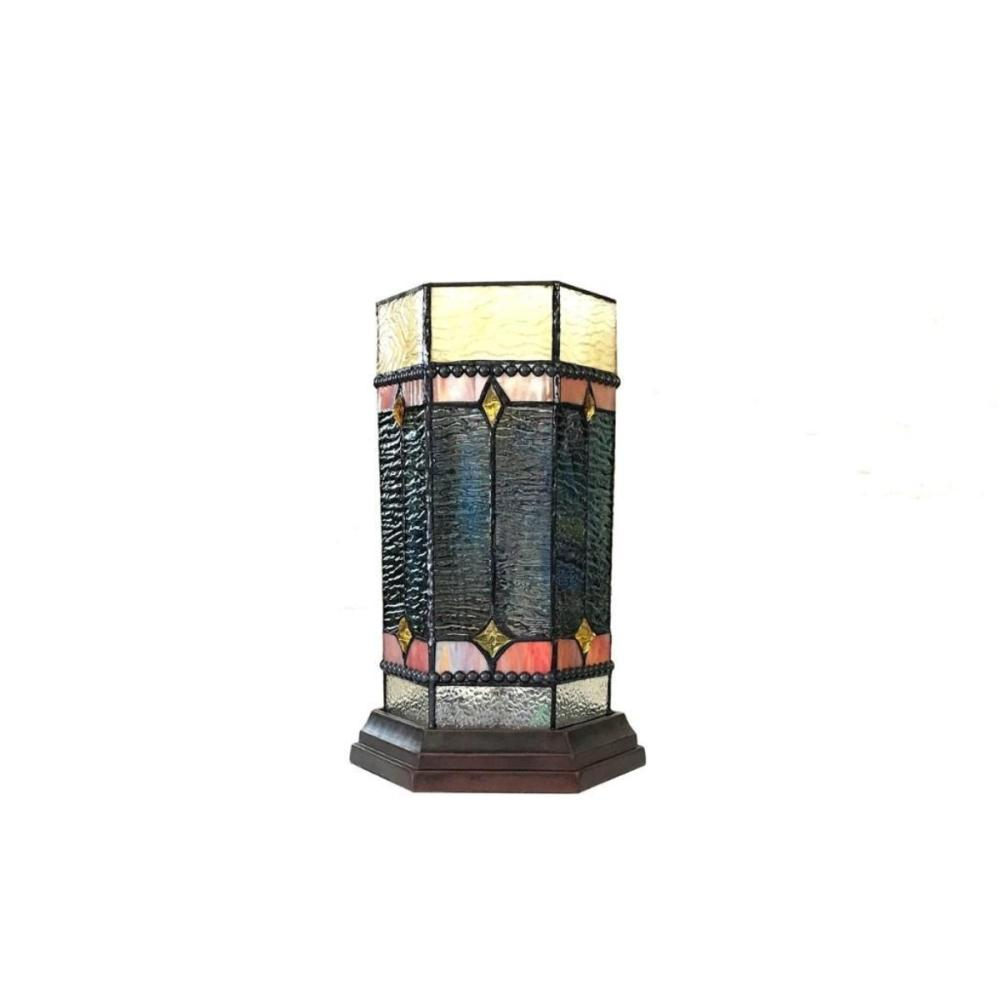 neilson tiffany glass accent pedestal light mission table lamp tall lot used drum throne pier off coupon mini chest drawers small furniture legs painting wood cabinets dale sconce