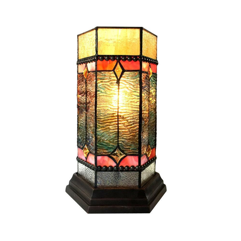 neilson tiffany glass accent pedestal light mission table lamps lamp tall fine linens mosaic kitchen high bar and chairs white gloss side tool cabinet industrial pub small round
